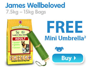 James Wellbeloved 7.5kg – 15kg Bags  Free Mini Umbrella 2