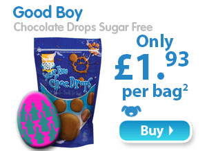 Good Boy  Chocolate Drops Sugar Free  Only £1.93 per bag 2