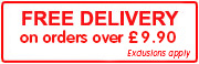 Free Delivery on orders over £9.90!