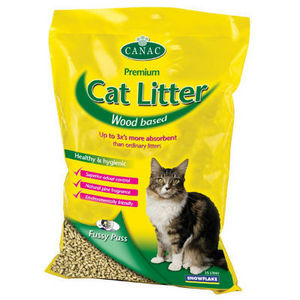 Sinclair Fussy Puss Premium Wood Cat Litter 5 x 5L