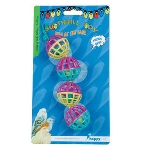 Happy Pet Fun At The Fair Multi Ball Bird Toy Toy