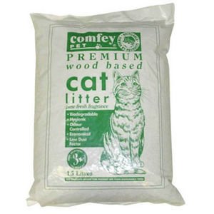 Comfey Cat Litter Wood Base 9.9kg